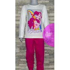 Dievčenské dlhé pyžamo My Little Pony bielo-ružové