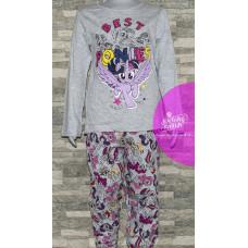 Dievčenské dlhé pyžamo My Little Pony šedé