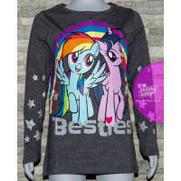 Dievčenské tričko My Little Pony šedé