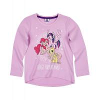 Dlhé dievčenské tričko My Little Pony bledo fialové