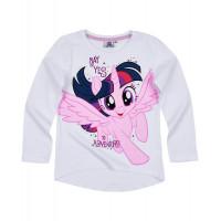 Dlhé dievčenské tričko My Little Pony biele