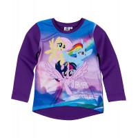 Dlhé dievčenské tričko My Little Pony tmavo fialové