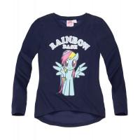 Dlhé dievčenské tričko My Little Pony tmavo modré č.116