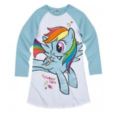 Dievčenská nočná košeľa My little pony modrá č.104
