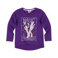 Dlhé dievčenské tričko My Little Pony fialové magic