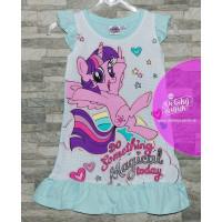 Dievčenská letná nočná košeľa My little pony modrá