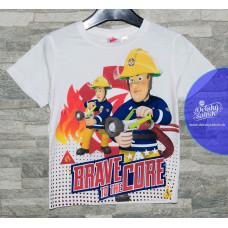 Chlapčenské letné tričko biele Požiarnik Sam 98,110