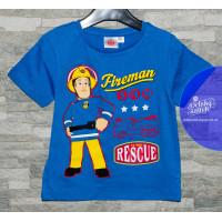 Chlapčenské letné tričko bledo modré Požiarnik Sam