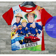 Chlapčenské letné tričko Požiarnik Sam červené 116