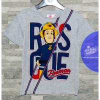 Chlapčenské letné tričko šedé Požiarnik Sam
