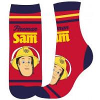 Chlapčenské ponožky Požiarnik Sam červené