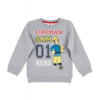 Chlapčenská mikina Požiarnik Sam šedá