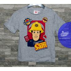 Chlapčenské letné tričko Požiarnik Sam šedé