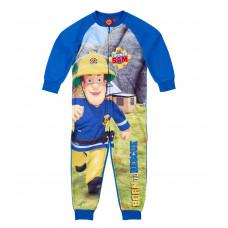 Chlapčenské pyžamo dlhé Požiarnik Sam teplý overal (flis)