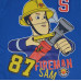 Chlapčenské tričko Požiarnik Sam modré