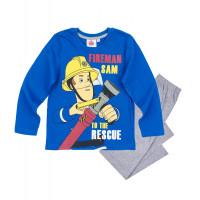Chlapčenské pyžamo dlhé Požiarnik Sam bledo modré