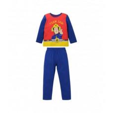 Dlhé pyžamo chlapčenské Požiarnik Sam modro-červené