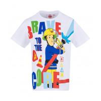 Chlapčenské tričko Požiarnik Sam biele