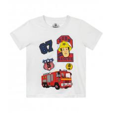 Požiarnik Sam letné biele tričko