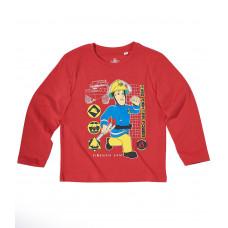 Tričko Požiarnik Sam červené s dlhým rukávom