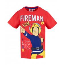Chlapčenské tričko Požiarnik Sam červené
