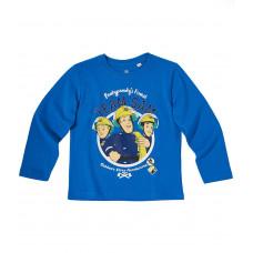 Tričko Požiarnik Sam bledo modré s dlhým rukávom