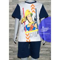 Požiarnik Sam chlapčenské letné pyžamo modré