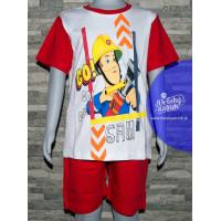 Požiarnik Sam chlapčenské letné pyžamo červené