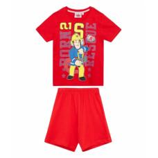 Chlapčenské pyžamo letné Požiarnik Sam červené