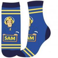 Chlapčenské ponožky Požiarnik Sam modré