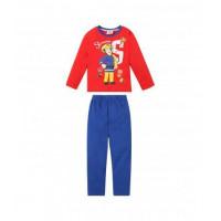 Dlhé pyžamo chlapčenské Požiarnik Sam červená-modrá