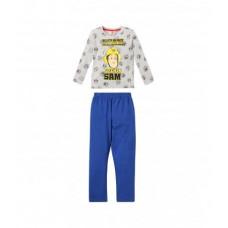 Dlhé pyžamo chlapčenské Požiarnik Sam šedé
