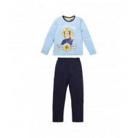 Dlhé pyžamo chlapčenské Požiarnik Sam slabo modré