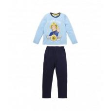 Dlhé pyžamo chlapčenské Požiarnik Sam slabo modré 92,116