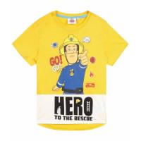 Chlapčenské letné tričko Požiarnik Sam žlté
