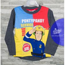 Tričko Požiarnik Sam farebné s dlhým rukávom 98