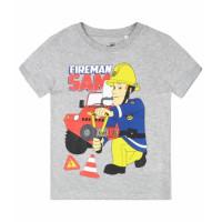Požiarnik Sam letné šedé tričko