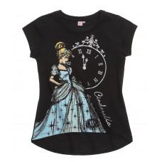 Tričko Disney Popoluška s krátkym rukávom čierne