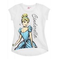 Tričko Disney Princess s krátkym rukávom biele