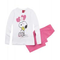 Pyžamo s dlhým rukávom Snoopy biele