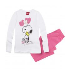 Pyžamo s dlhým rukávom Snoopy biele 128,140