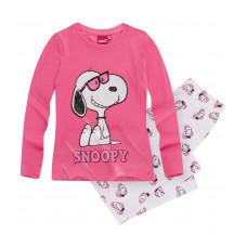 Pyžamo s dlhým rukávom Snoopy ružové