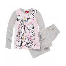 Pyžamo s dlhým rukávom Snoopy šedé