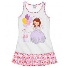 Letná nočná košeľa Disney Sofia biela