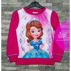 Dievčenská tenšia mikina Disney Sofia ružová