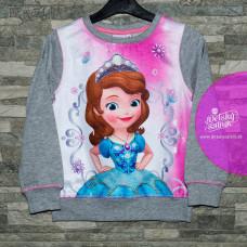 Dievčenská tenšia mikina Disney Sofia šedá