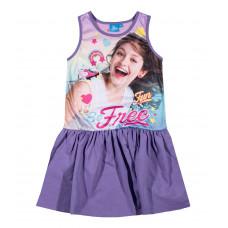 Letné dievčenské šaty Disney Soy Luna fialové