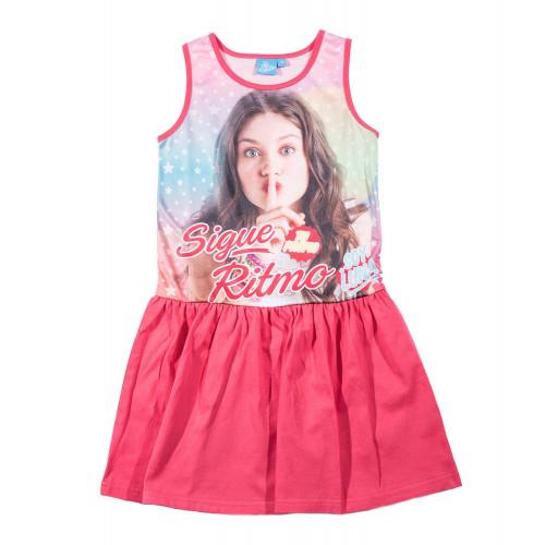 Letné dievčenské šaty Disney Soy Luna fuchsia ... 620c0163ec7