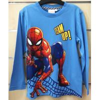 Chlapčenské tričko Spiderman s dlhým rukávom modré
