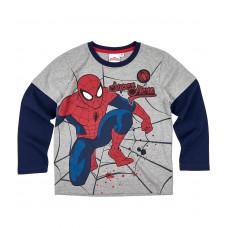 Chlapčenské tričko Spiderman s dlhým rukávom šedé č.98